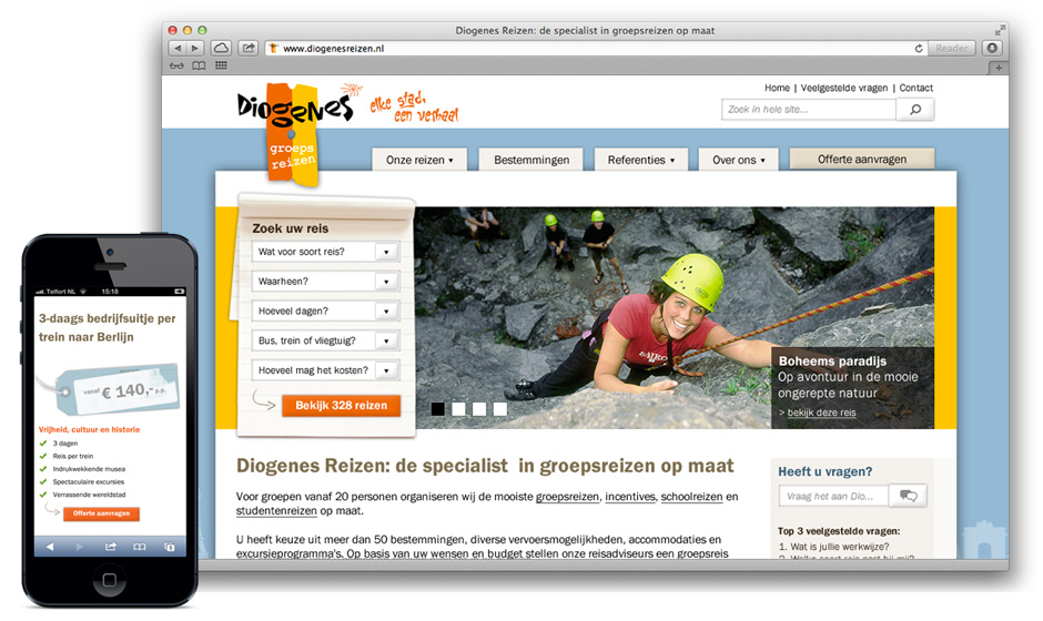 diogenes responsive website